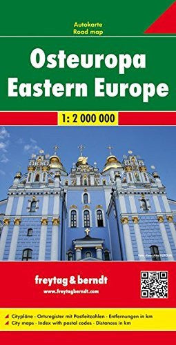 Europe Eastern Fb 1:2 000 000 (English, Spanish, French, Italian and German Edition)