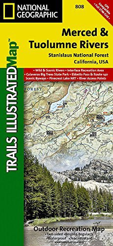 Merced and Tuolumne Rivers [Stanislaus National Forest] (National Geographic Trails Illustrated Map)