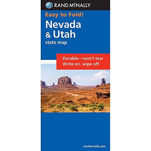 Rand McNally Easy To Fold: Nevada, Utah (Laminated) (Easyfinder S)