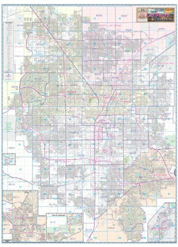 us topo - Greater Las Vegas Area Wall Map Gloss Laminated - Wide World Maps & MORE! - Book - Wide World Maps & MORE! - Wide World Maps & MORE!