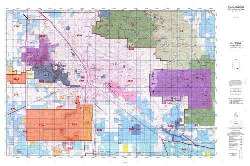 Arizona GMU 38M Hunt Area / Game Management Units (GMU) Map