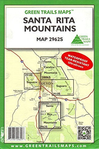 us topo - Santa Rita Mountains (Hiking / Mountain Biking / Equestrian Trails, 2962S) - Wide World Maps & MORE! - Book - Wide World Maps & MORE! - Wide World Maps & MORE!