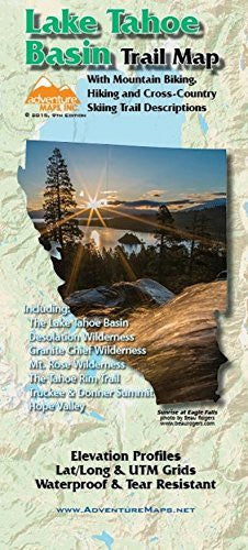 Adventure Maps Lake Tahoe Basin Trail Map