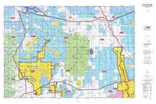us topo - Arizona GMU 34B Hunt Area / Game Management Units (GMU) Map - Wide World Maps & MORE! - Book - Wide World Maps & MORE! - Wide World Maps & MORE!