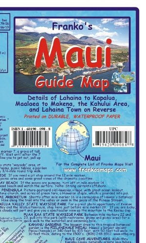 Maui Guide Map - Folded - Wide World Maps & MORE! - Book - Franko Maps - Wide World Maps & MORE!