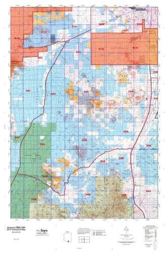 Arizona GMU 36A Hunt Area / Game Management Units (GMU) Map