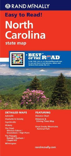 Rand McNally Folded Map: North Carolina (Rand McNally State Maps)
