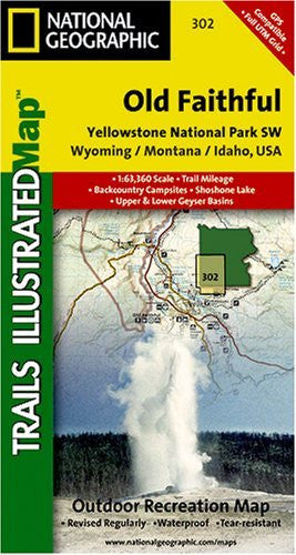 us topo - Yellowstone National Park SW - Old Faithful Trail Map - Wide World Maps & MORE! - Book - National Geographic - Wide World Maps & MORE!
