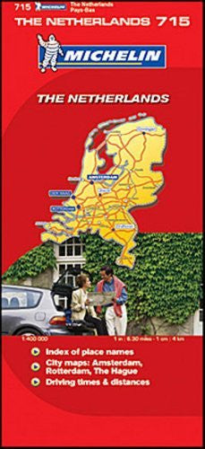 Michelin Map Number 715 Netherlands