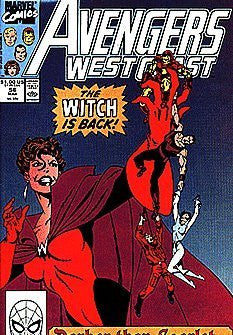 Avengers West Coast #56 : Darker Than Scarlet (Marvel Comics) - Wide World Maps & MORE! - Book - Wide World Maps & MORE! - Wide World Maps & MORE!