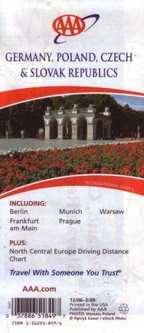 AAA Germany, Poland, Czech & Slovak Republics: Including Berlin, Frankfurt Am Main, Munich, Prague,