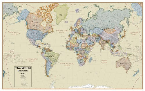 us topo - Round World Products Boardroom World Wall Map - Wide World Maps & MORE! - Toy - ROUND WORLD PRODUCTS - Wide World Maps & MORE!
