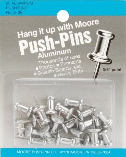 Aluminum 3/8In Push Pins Box 20