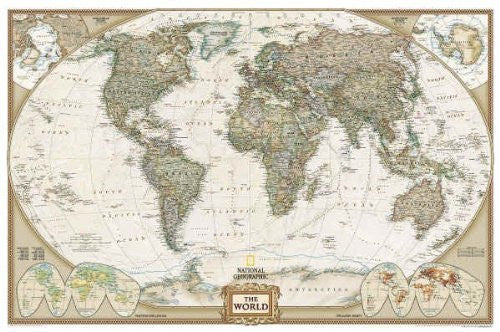 National Geographic RE0622085T World Executive - Tubed Map by National Geographic