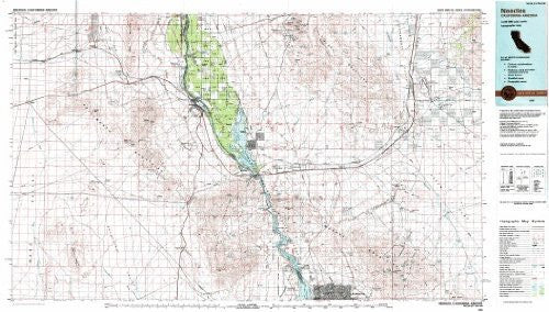 Needles California - Arizona 1:100,000-scale USGS Topographic Map: 30 X 60 Minute Series (1985)