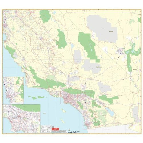 Universal Map 762552336 California Southern Vicinity Wall Map Railed