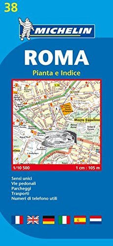 Michelin Map Roma #38 (Maps/City (Michelin)) (Italian Edition)