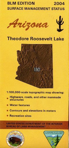 us topo - Theodore Roosevelt Lake Surface Management Status (Arizona) - Wide World Maps & MORE! - Book - Wide World Maps & MORE! - Wide World Maps & MORE!