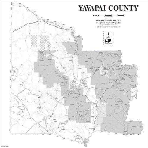 Yavapai County Wall Map