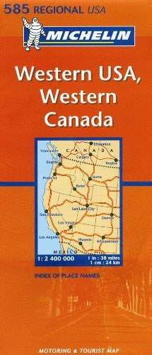 Michelin Map USA Western, Western Canada 585 (Maps/Regional (Michelin))