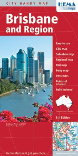Brisbane Region, QLD (Australian State Maps) - Wide World Maps & MORE! - Book - Wide World Maps & MORE! - Wide World Maps & MORE!