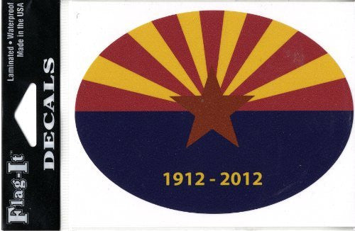 Arizona Centennial Oval Decal 6-Pack