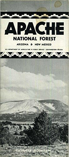 Apache National Forest Recreation Map Arizona and New Mexico