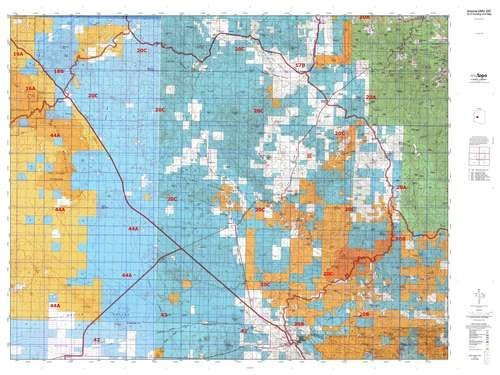 Arizona 20C Hunt Area / Game Management Unit (GMU) Map - Wide World Maps & MORE! - Map - MyTopo - Wide World Maps & MORE!