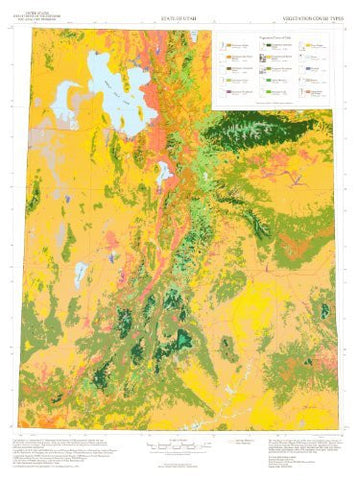 us topo - State of Utah Vegetation Cover Types - Wide World Maps & MORE! - Book - Wide World Maps & MORE! - Wide World Maps & MORE!
