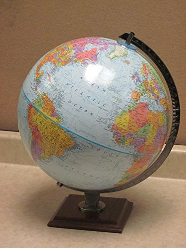 Reploge World Globe, 12-Inch, Blue