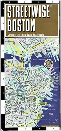 Subway Map Paper Products.Streetwise Boston Map Laminated City Center Street Map Of Boston Massachusetts Folding Pocket Size Travel Map With Mbta Subway Map Trolley