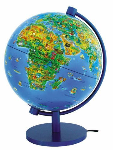 "Dinoz Illustrated World Globe 11"" Illuminated (Dino's Illustrated Globes)"