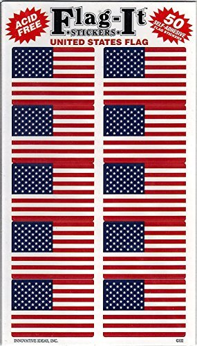 United States Flag Self-Adhesive Flag Stickers, 250 Count - Wide World Maps & MORE! - Art and Craft Supply - Flag-It Stickers - Wide World Maps & MORE!