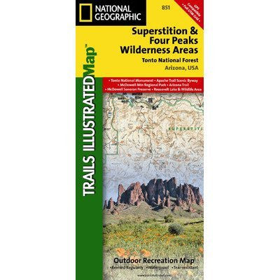 us topo - Trails Illustrated Superstition & Four Peaks Wilderness Areas - Wide World Maps & MORE! - Sports - National Geographic Maps - Wide World Maps & MORE!