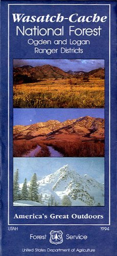 us topo - Wasatch-Cache National Forest travel map : Ogden and Logan ranger districts (SuDoc A 13.28:W 26/6/991) - Wide World Maps & MORE! - Book - Wide World Maps & MORE! - Wide World Maps & MORE!