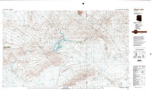 Alamo Lake Arizona 1:100,000-scale Topographic USGS Map: 30 X 60 Minute Series (1979)