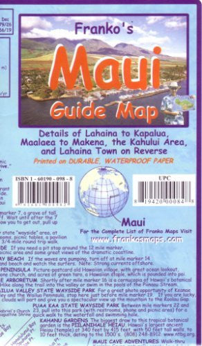 Franko's Guide Map of Maui