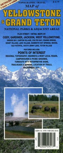 us topo - Topographic Travel Map of Yellowstone and Grand Teton - Wide World Maps & MORE! - Book - GTR Mapping - Wide World Maps & MORE!