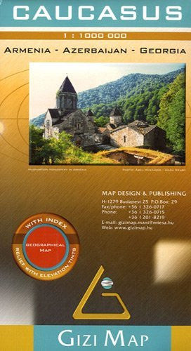 Caucasus Geographical Map - Wide World Maps & MORE! - Book - Wide World Maps & MORE! - Wide World Maps & MORE!