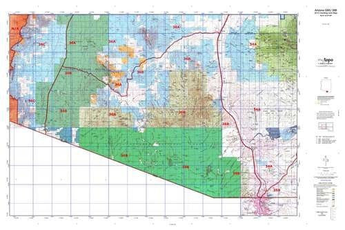 us topo - Arizona GMU 36B Hunt Area / Game Management Units (GMU) Map - Wide World Maps & MORE! - Book - Wide World Maps & MORE! - Wide World Maps & MORE!