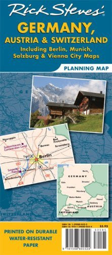Rick Steves' Germany, Austria, and Switzerland Map: Including Berlin, Munich, Salzburg and Vienna City