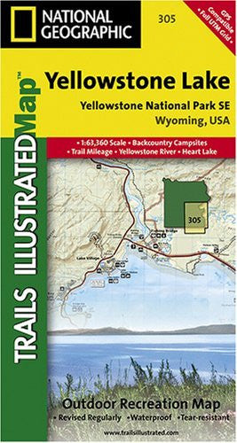 Yellowstone National Park - Yellowstone Lake Area Trail Map