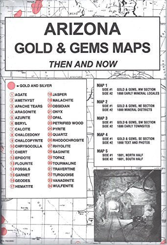 us topo - Arizona Gold & Gems Maps - Wide World Maps & MORE! - Book - Wide World Maps & MORE! - Wide World Maps & MORE!