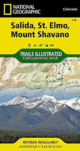 Salida, St. Elmo, Mount Shavano (National Geographic Trails Illustrated Map)