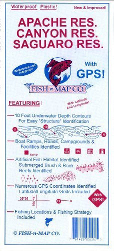 us topo - Fish-N-Map Apache/Saguaro/Canyon Res. - Wide World Maps & MORE! - Sports - Fish-N-Map - Wide World Maps & MORE!