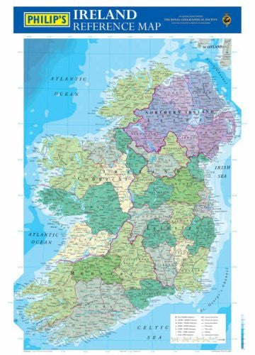 Ireland Reference Map (Philip's Wall Maps)