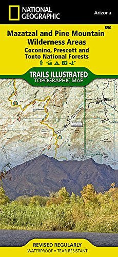 Mazatzal and Pine Mountain Wilderness Areas [Coconino, Prescott, and Tonto National Forests] (National Geographic Trails Illustrated Map)
