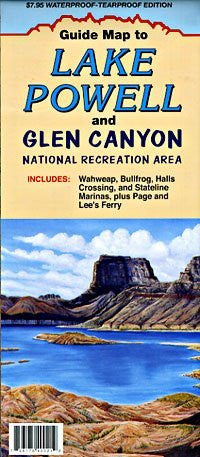 Guide Map to Lake Powell and Glen Canyon National Recreation Area