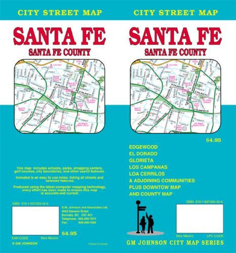 Santa Fe, New Mexico / Santa Fe County Street Map