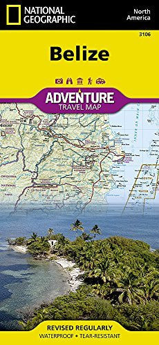 us topo - Belize (National Geographic Adventure Map) - Wide World Maps & MORE! - Book - National Geographic Maps - Wide World Maps & MORE!